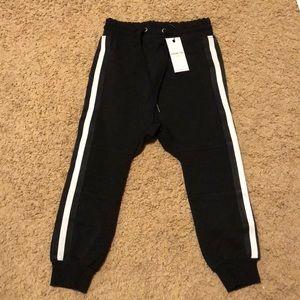 Adam + Yve black sporty jogger pants 6 NWT